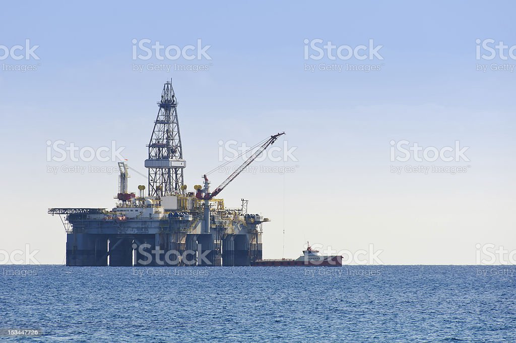 Gas & Oil rig royalty-free stock photo