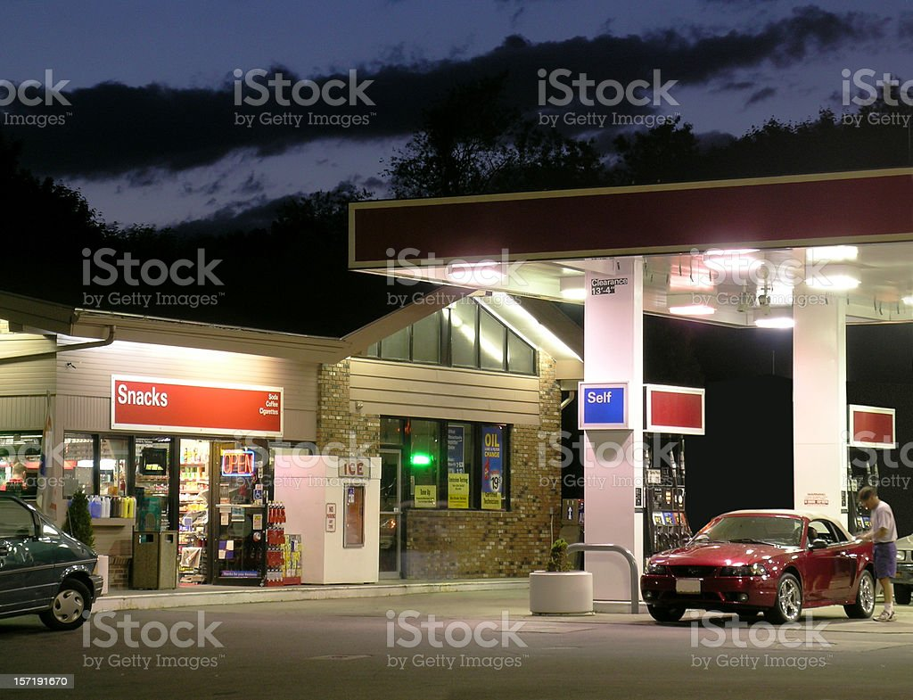 Gas and go stock photo