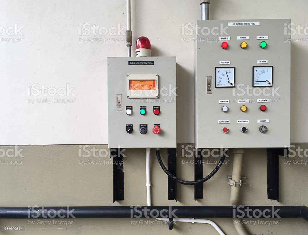 Gas and LPG Vaporizer Control Panel. royalty-free stock photo