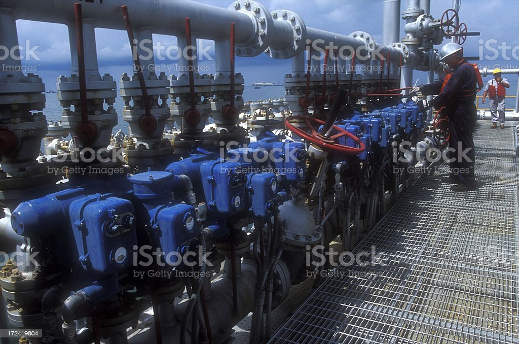 Gas and oil stock photo