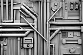 Gas and Oil Pipes Background