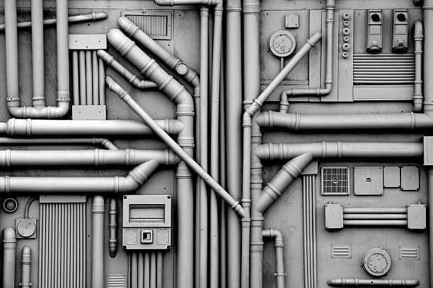 Gas und Öl Rohre Hintergrund – Foto