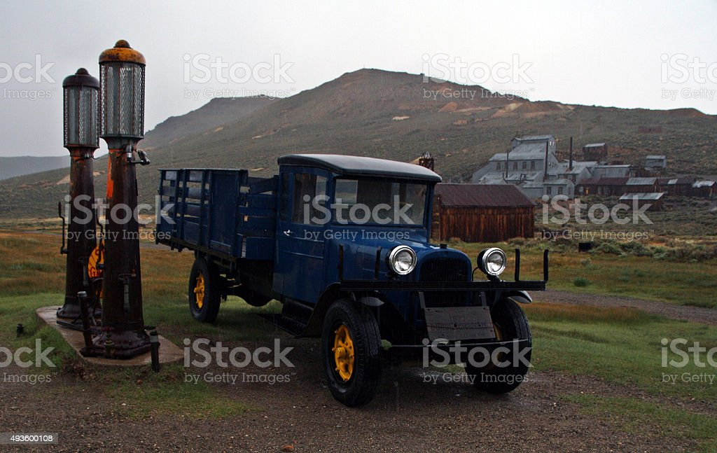 Gas and Truck stock photo