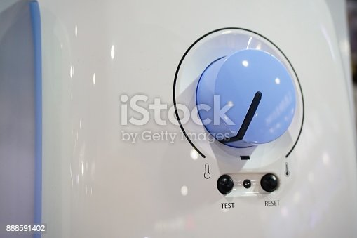 istock Gas boiler control panel. Home heating 868591402