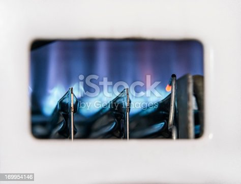 istock Gas Boiler Flame Close-up 169954146