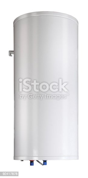 istock Gas boiler isolated on a white background 92417878