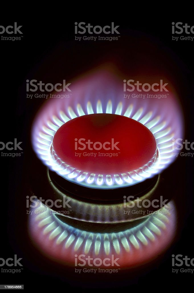 Gas burner royalty-free stock photo