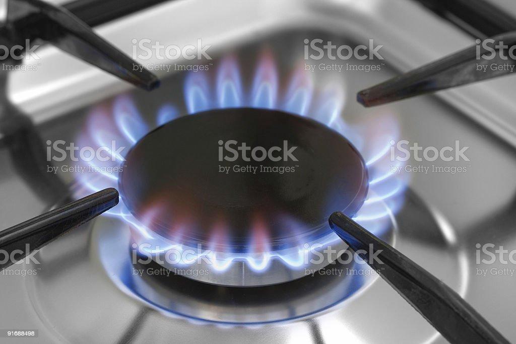 Gas burner stock photo