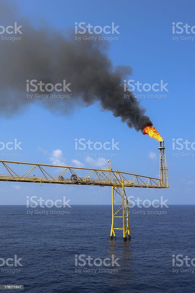 Gas burning royalty-free stock photo
