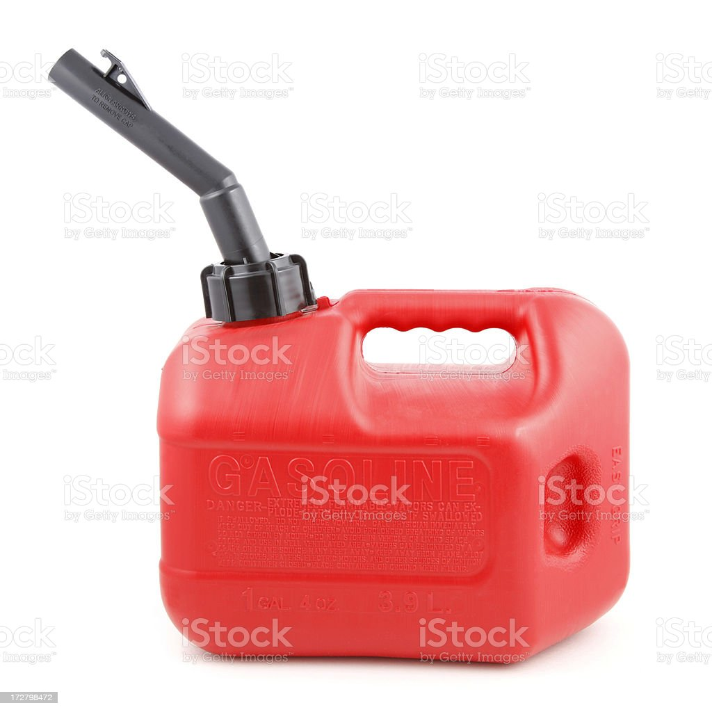 Gas Can on White stock photo