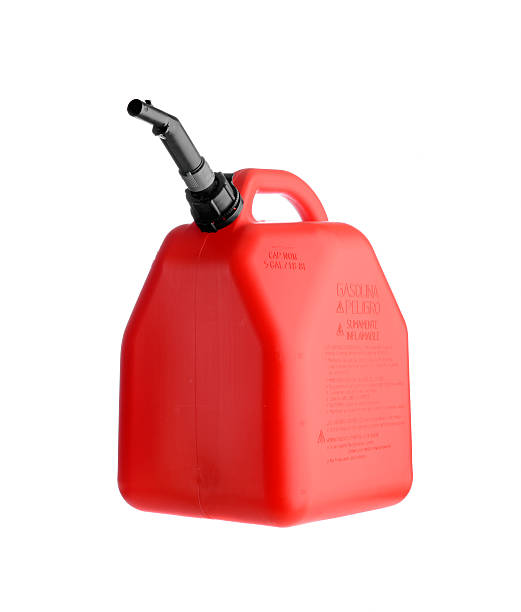 Gas can stock photo