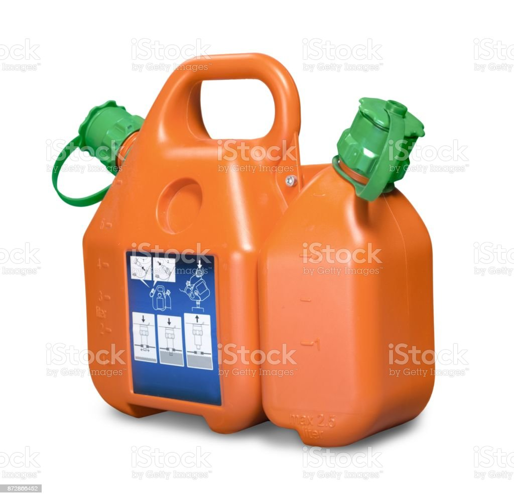 Gas can. stock photo