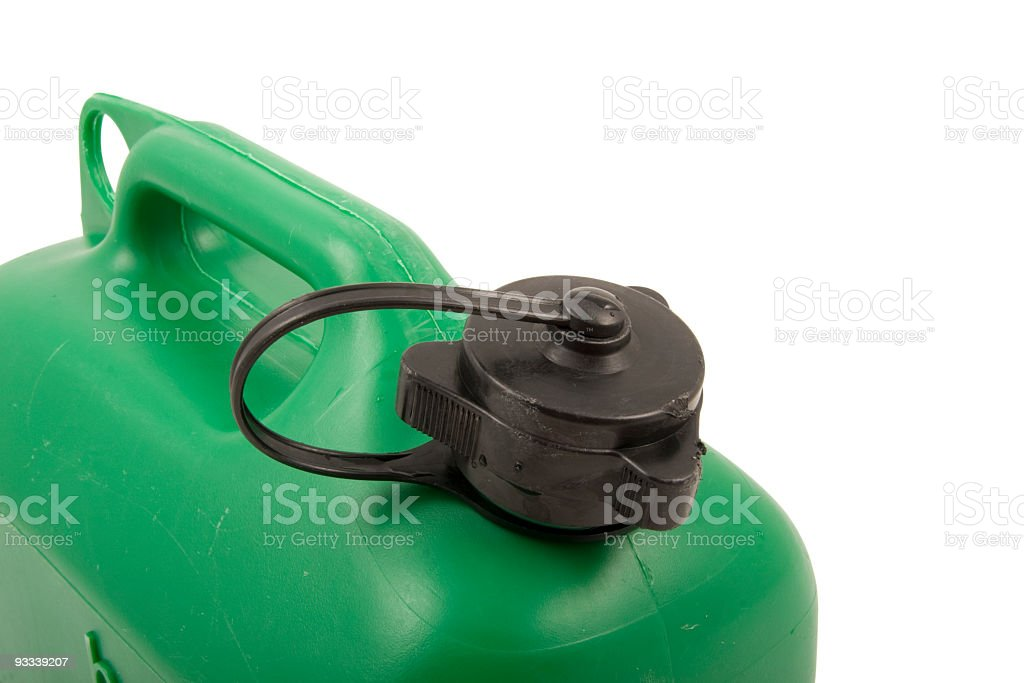 Gas can with clipping path stock photo