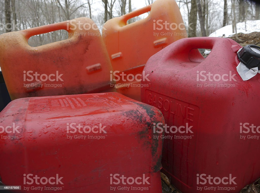 Gas Cans stock photo