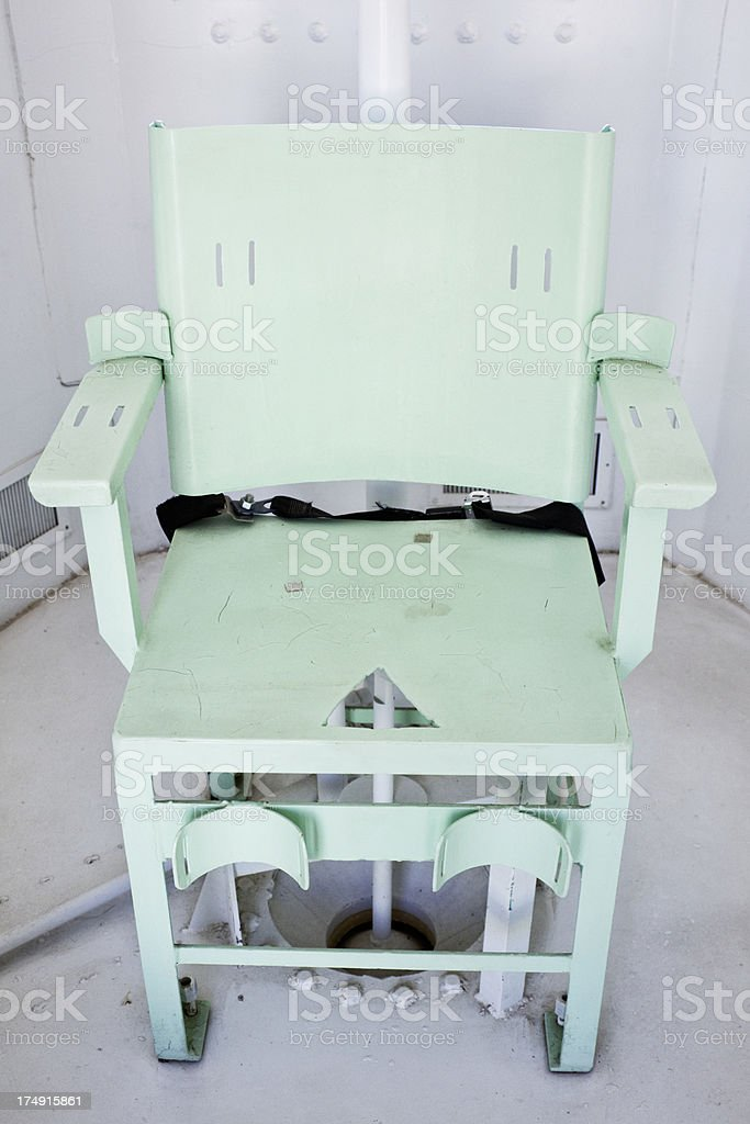 Gas Chamber Chair stock photo