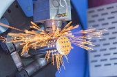 CNC gas cutting metal sheet