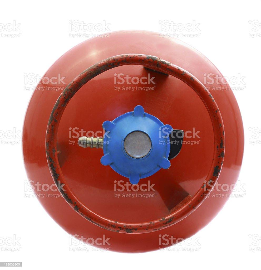 LPG gas cylinder stock photo