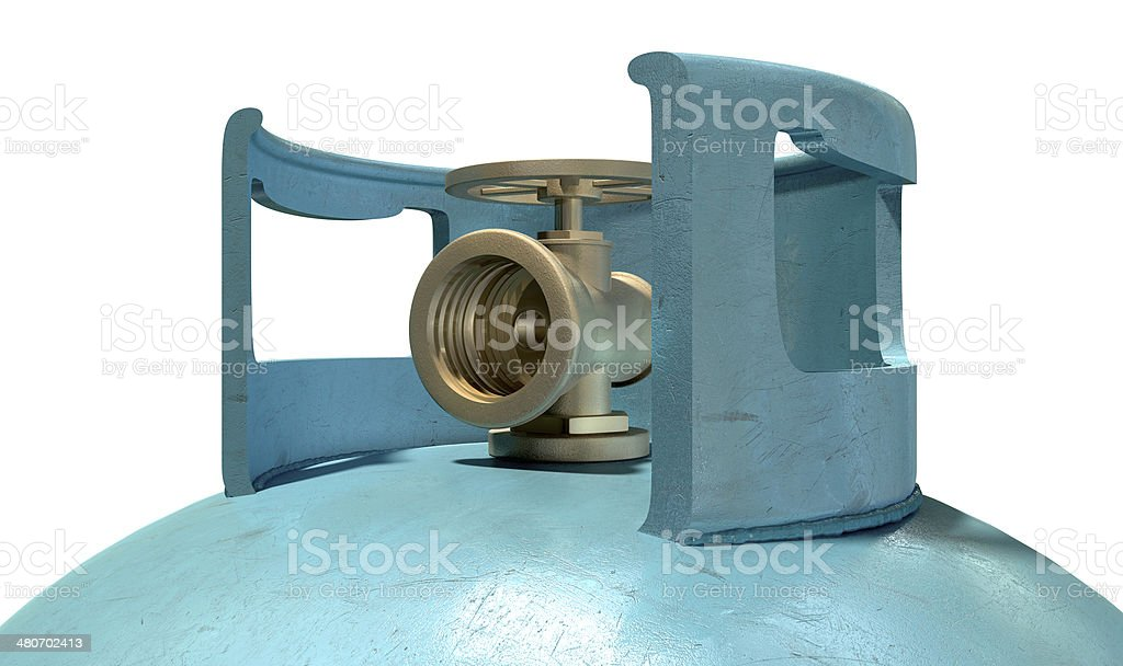 Gas Cylinder Valve Closeup stock photo