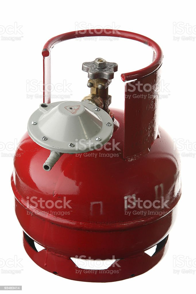 Gas cylinder with a reducer royalty-free stock photo
