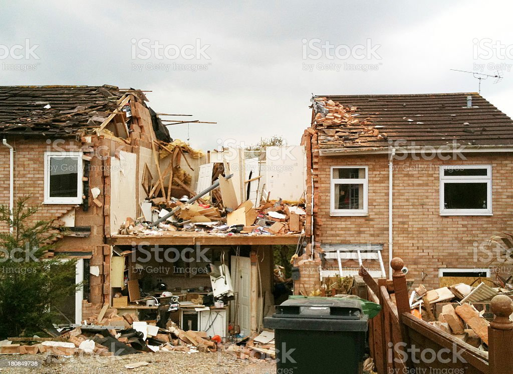 Gas explosion stock photo