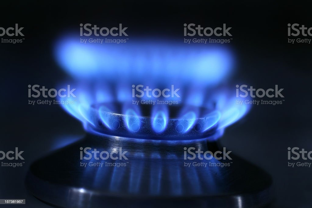 Gas flame royalty-free stock photo