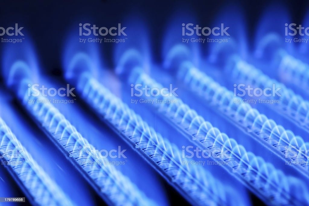 Gas flame stock photo