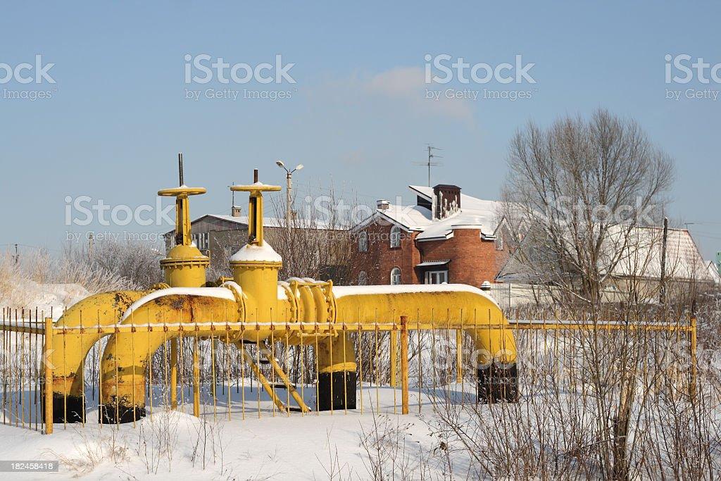 Gás para casas de inverno foto royalty-free
