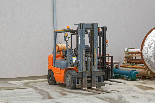 Gas Forklift stock photo