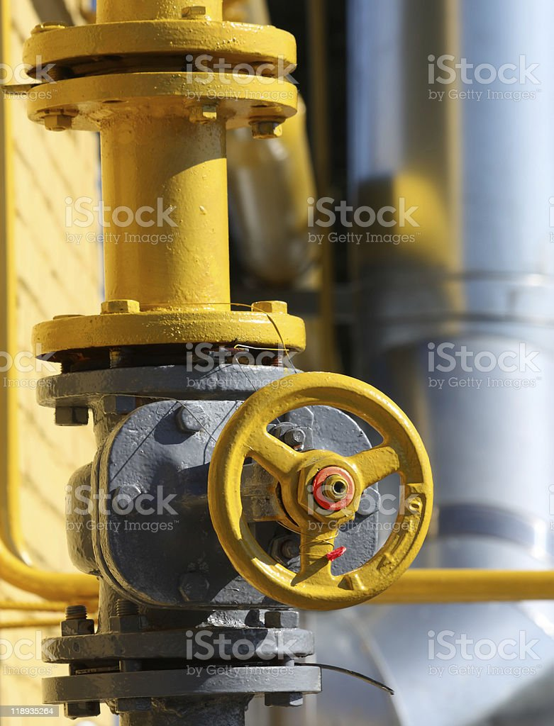 Gas gate royalty-free stock photo