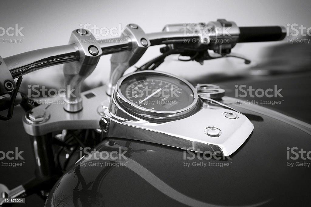 Gas Gauge on Motorcycle royalty-free stock photo
