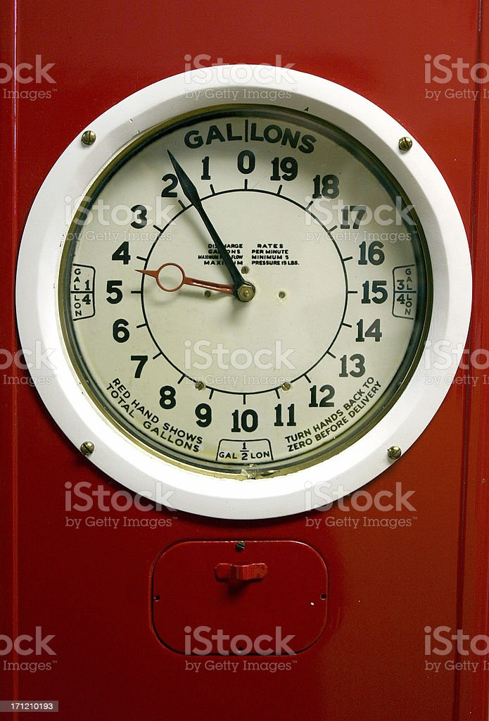 Gas Gauge royalty-free stock photo