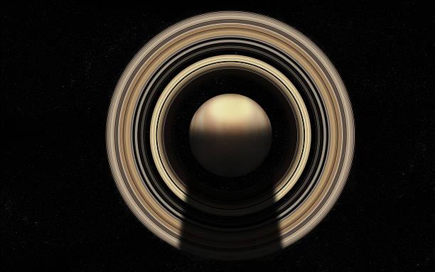 Gas riesigen mit planetary Ringe – Foto