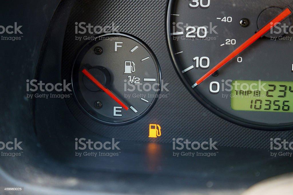 Gas Guage Empty stock photo