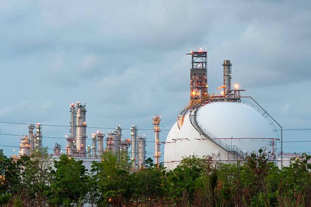 LPG gas Industrie Aufbewahrung Kugel tanks – Foto