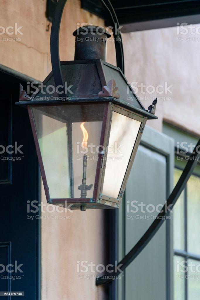 Gas licht, Charleston (South Carolina) royalty free stockfoto