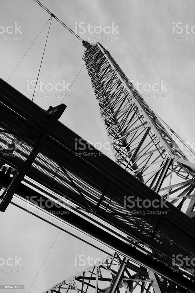 Gas line and mast stock photo