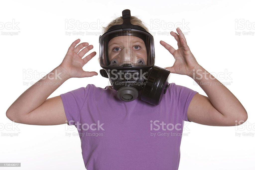 Gas Mask - Panic royalty-free stock photo