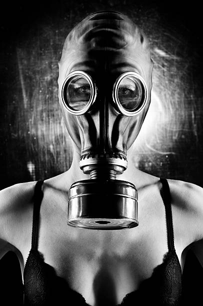 Sexy gas mask girl