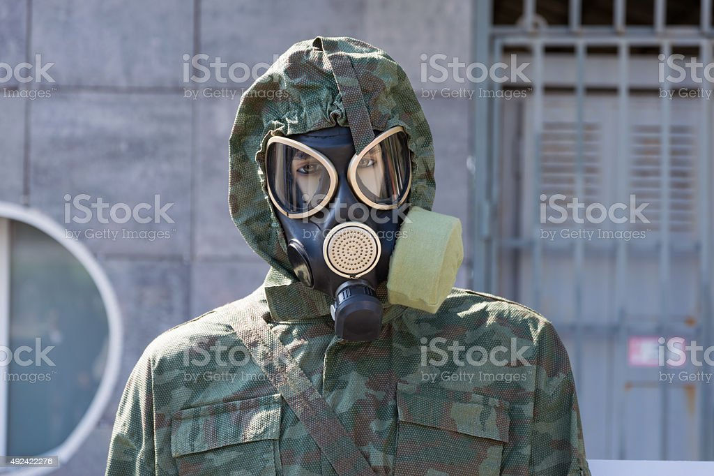 Gas mask. stock photo
