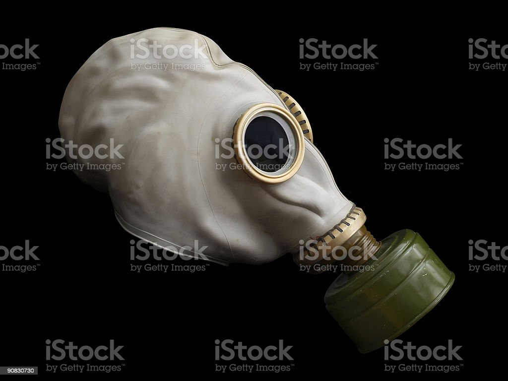 Gas Mask, side view royalty-free stock photo