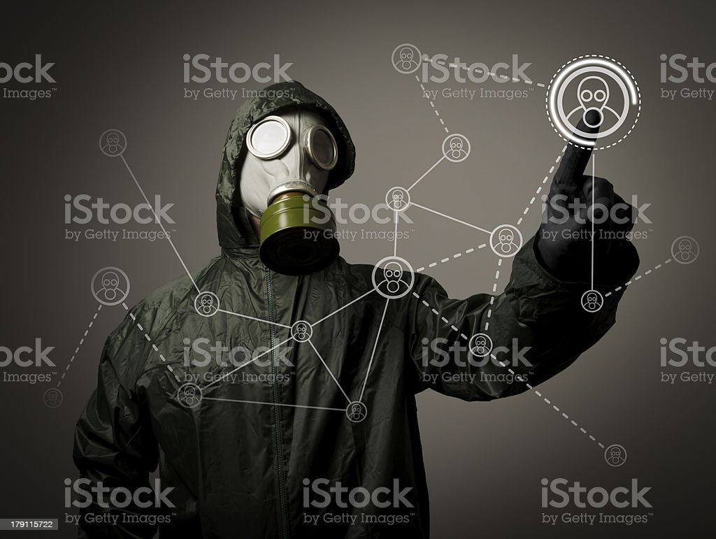 Gas mask. Social network stock photo