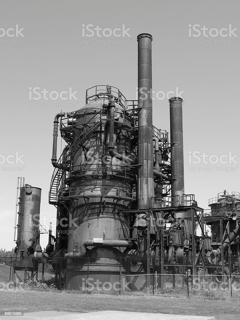 Gas mechanics royalty-free stock photo