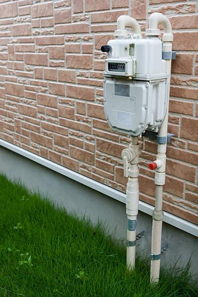 Gas meter stock photo