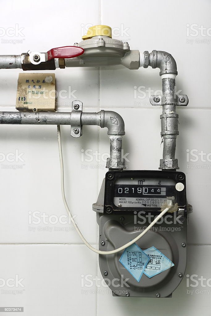 gas meter royalty-free stock photo