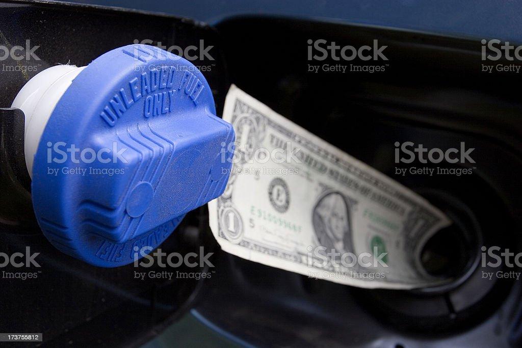 Gas Money 3 royalty-free stock photo