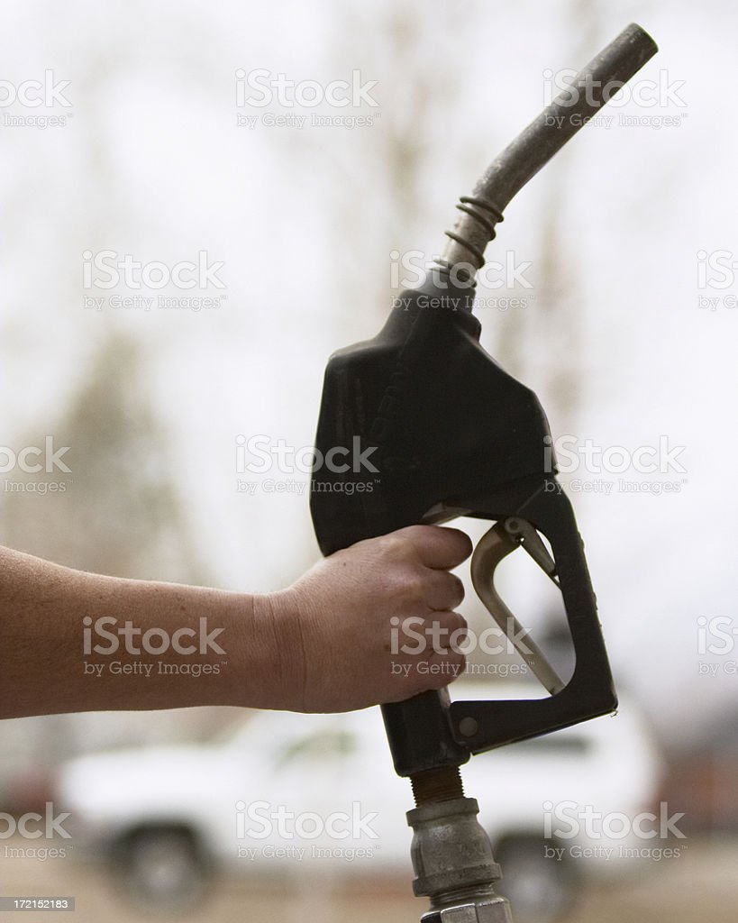 gas nozzle stock photo