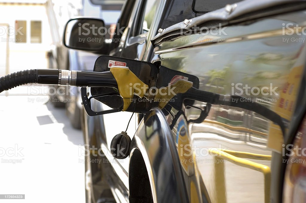 gas nozzle royalty-free stock photo