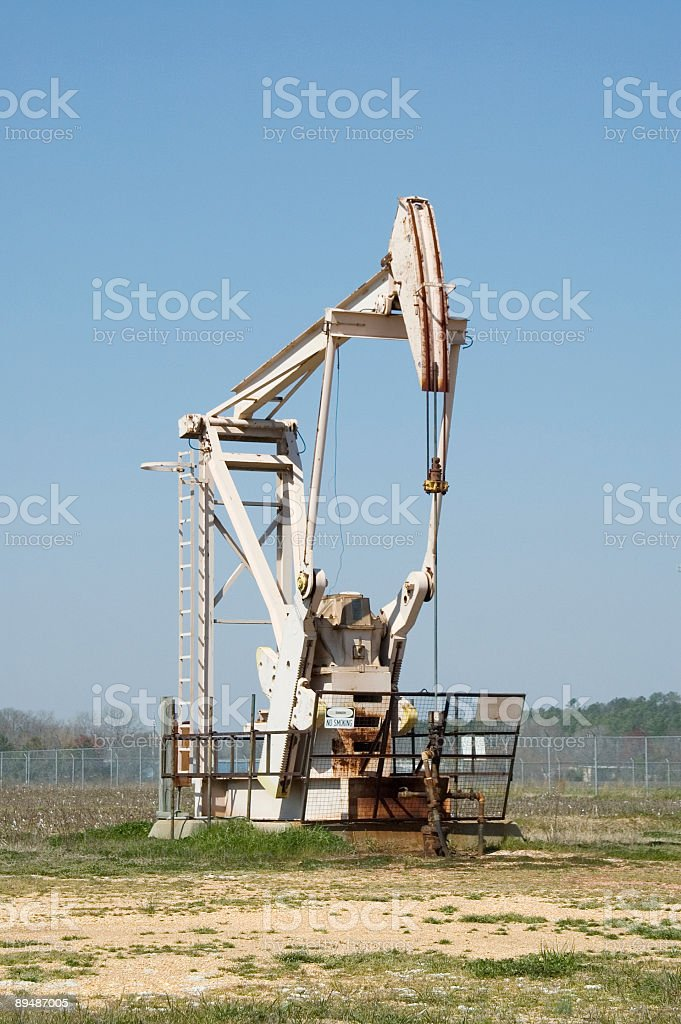 Gas or Oil Pump. royalty-free stock photo