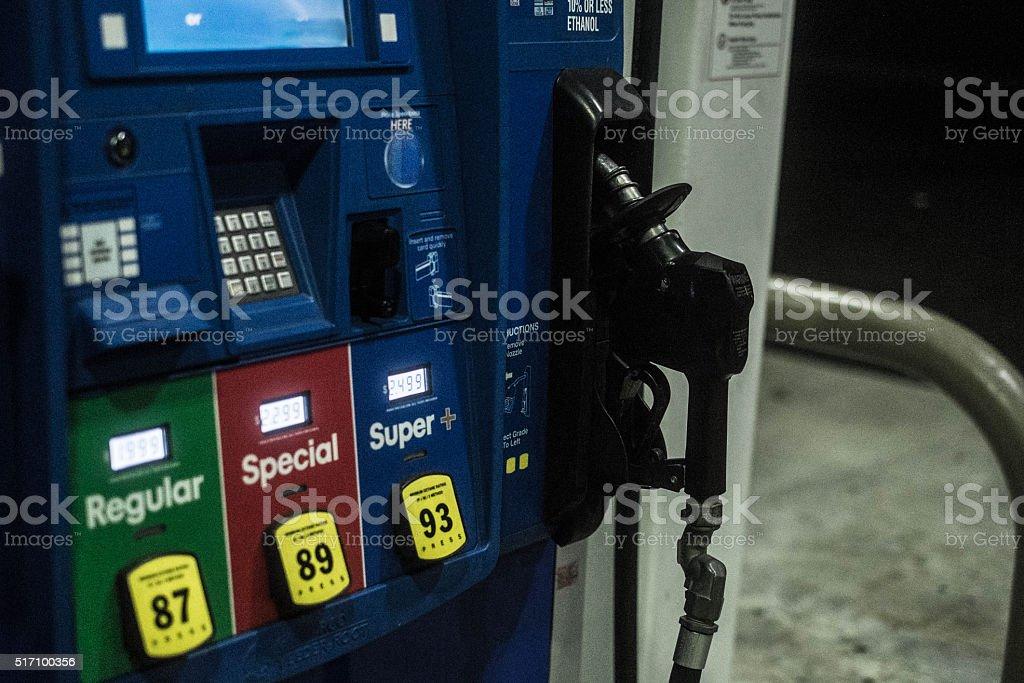 gas gas pump Car Stock Photo