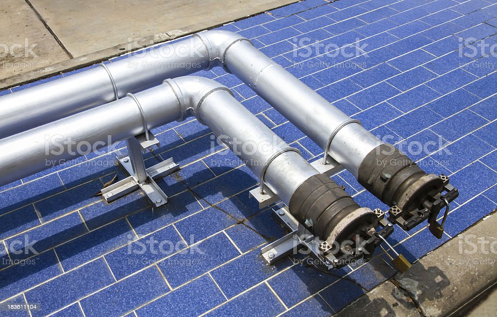 gas pipe line royalty-free stock photo